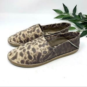 VINCE. Kia Brown Snakeskin Leather Loafer 9